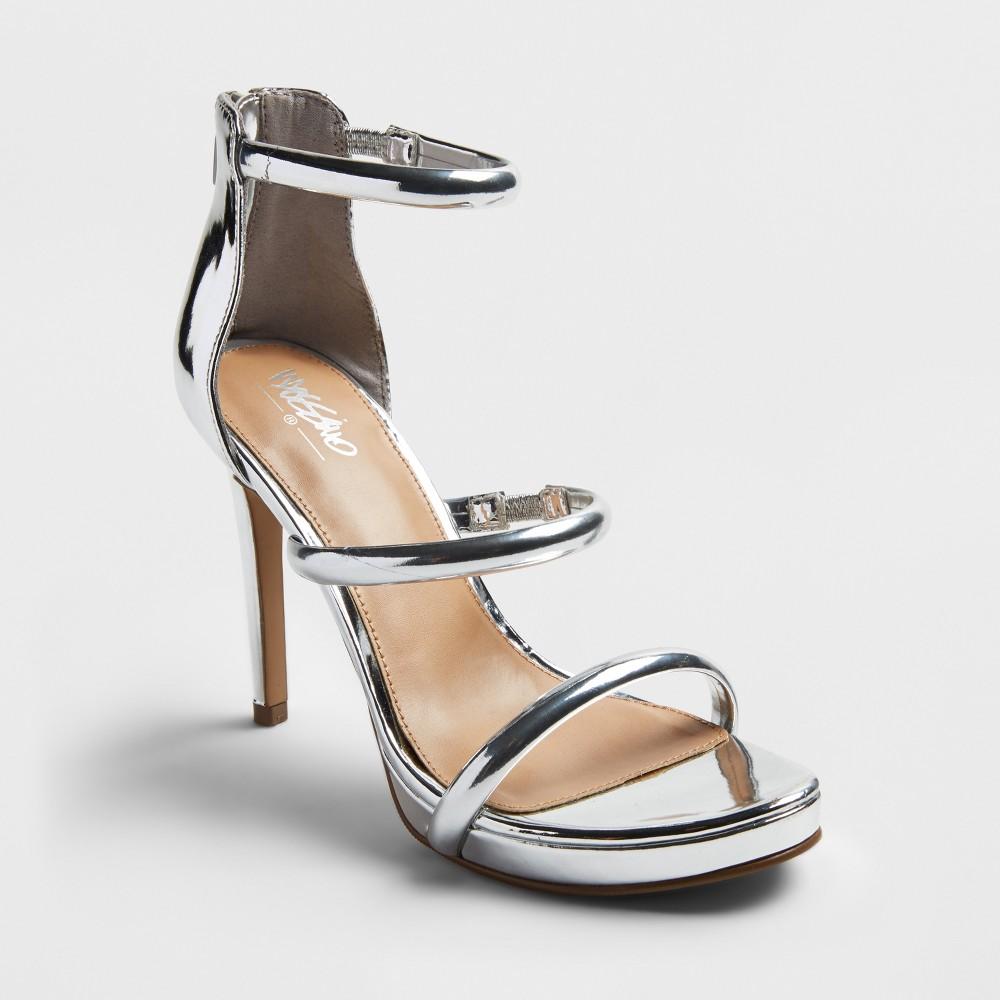 Womens Fairy Metallic Strappy Pumps - Mossimo Silver 11