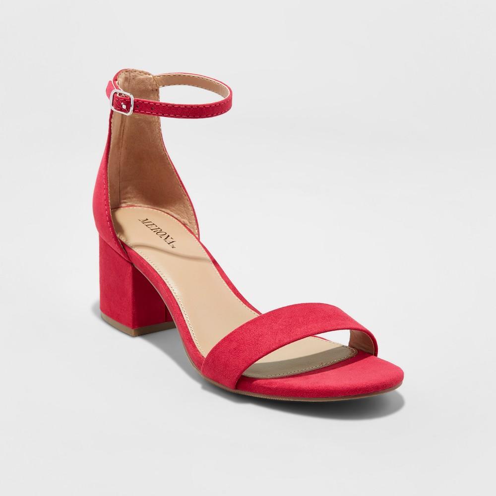 Womens Marcella Block Heel Sandal Pumps - Merona Pink 8.5