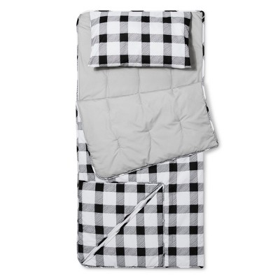 Buffalo Check Convertible Sleeping Bag Black & White - Pillowfort™