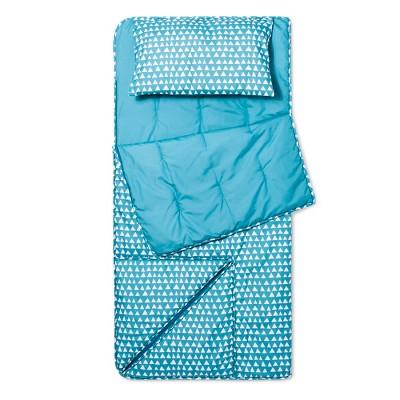 Triangles Convertible Sleeping Bag Blue - Pillowfort™