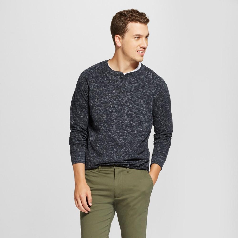 Mens Standard Fit Long Sleeve Henley T-Shirt - Goodfellow & Co Charcoal (Grey) Xxl