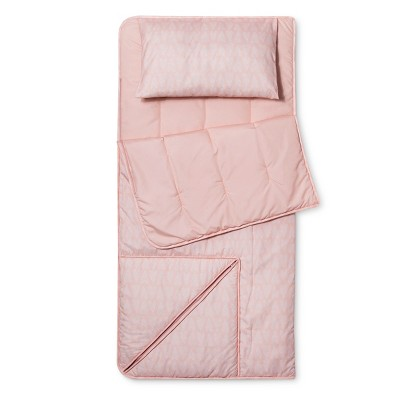 Hearts Convertible Sleeping Bag Pink - Pillowfort™