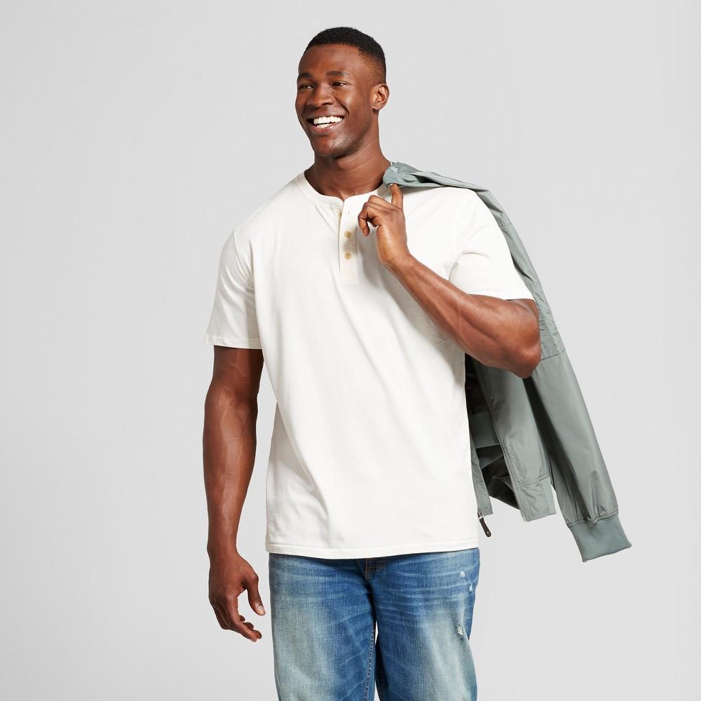 Mens Big & Tall Standard Fit Short Sleeve Henley T-Shirt - Goodfellow & Co Off White 4XB