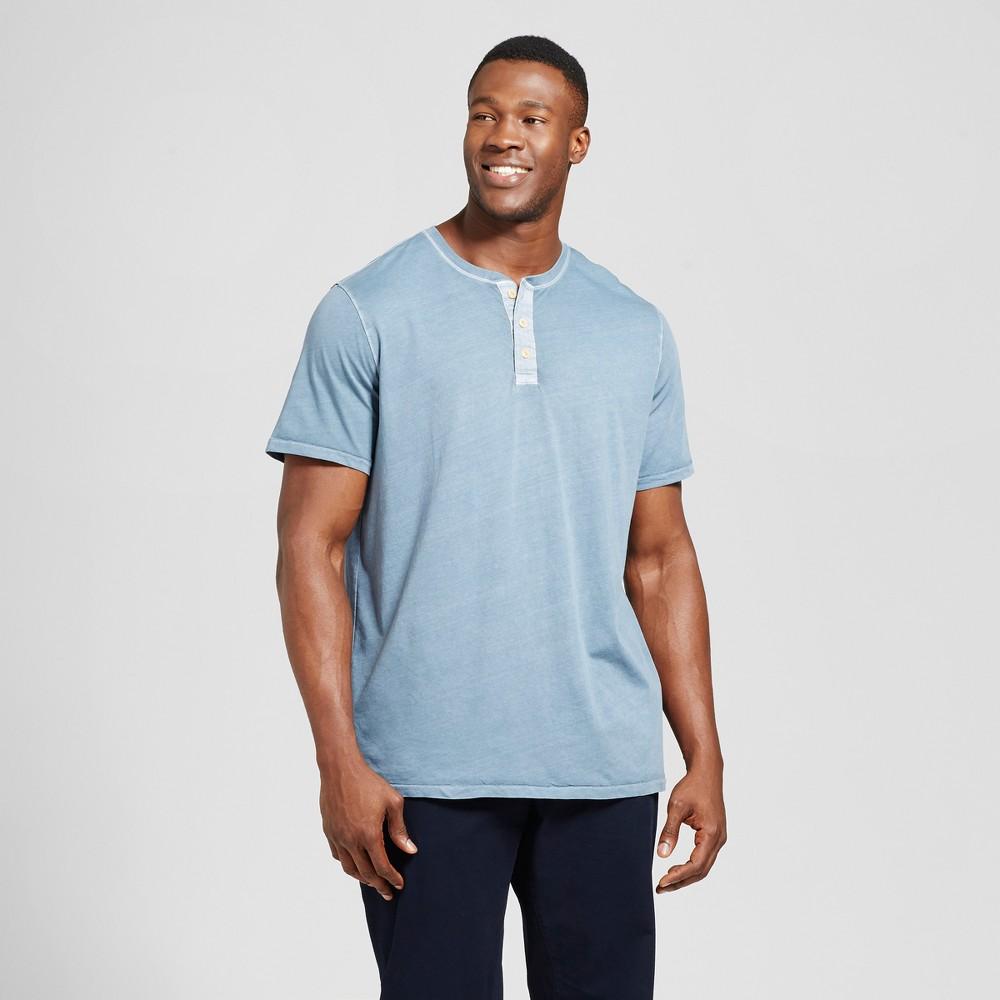 Mens Big & Tall Standard Fit Short Sleeve Henley T-Shirt - Goodfellow & Co Slate Blue 2XBT