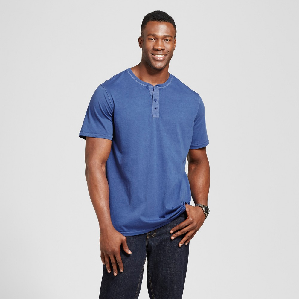 Mens Big & Tall Standard Fit Short Sleeve Henley T-Shirt - Goodfellow & Co Royal Blue 2XBT