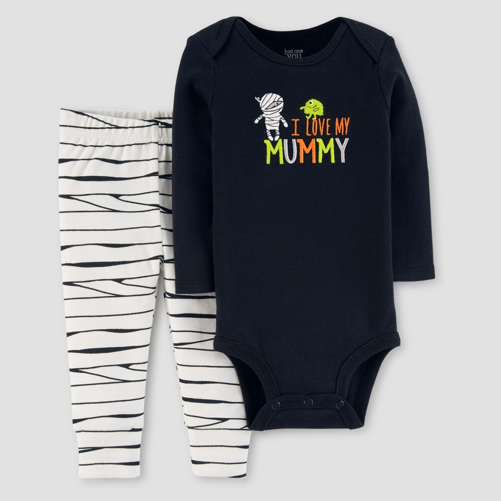 Baby Boys 2pc I Love Mommy Set - Just One You Made by Carters Black NB