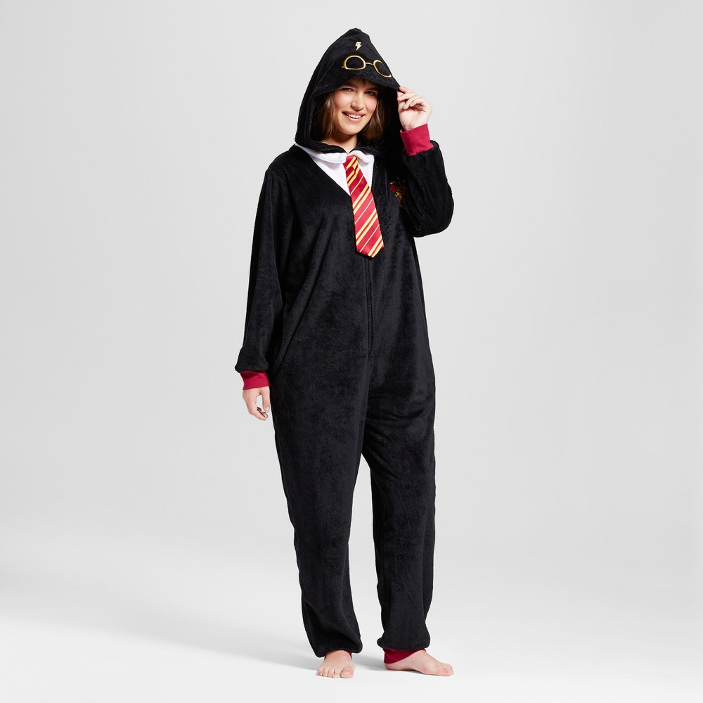 Womens Plus Size Warner Bros. Harry Potter Pajama Romper - Black 2X