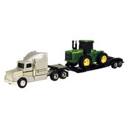 John Deere Farm Hauler Semi and 4WD Tractor 1:64 Scale