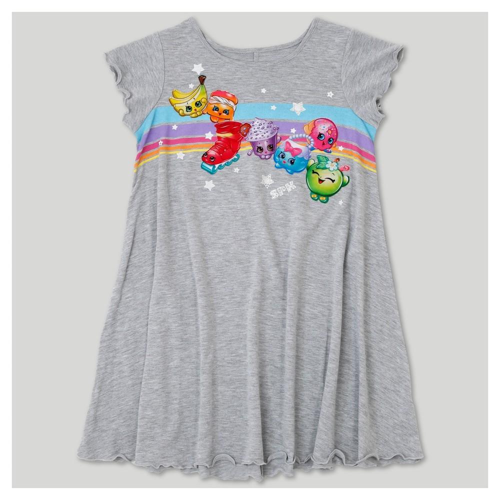 Plus Size Girls Shopkins Dress - Heather Gray XL Plus