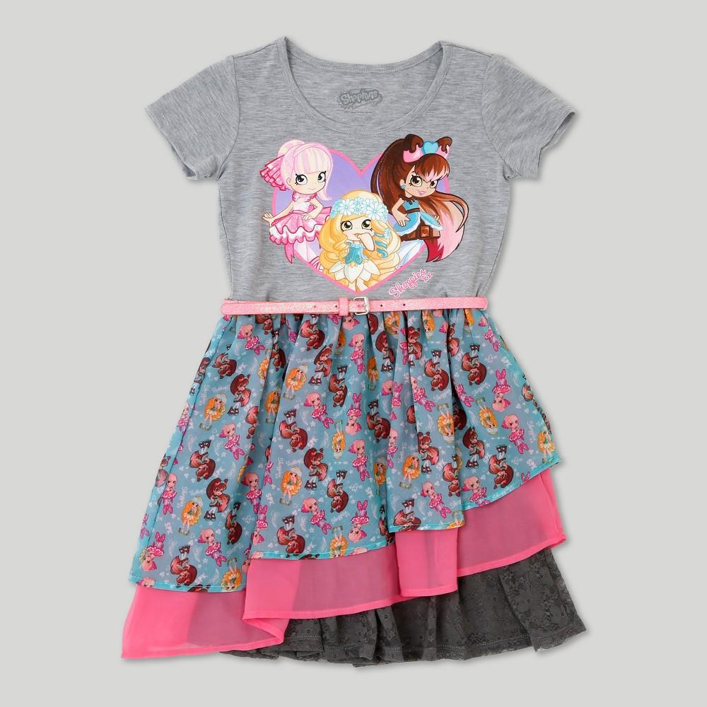 Plus Size Girls Shoppies Dress - Heather Gray XL Plus
