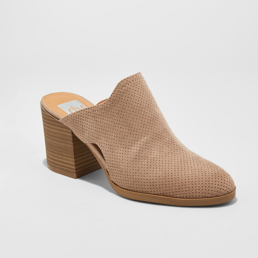 Womens dv Laura Laser Cut Mule Booties - Taupe 10, Gray