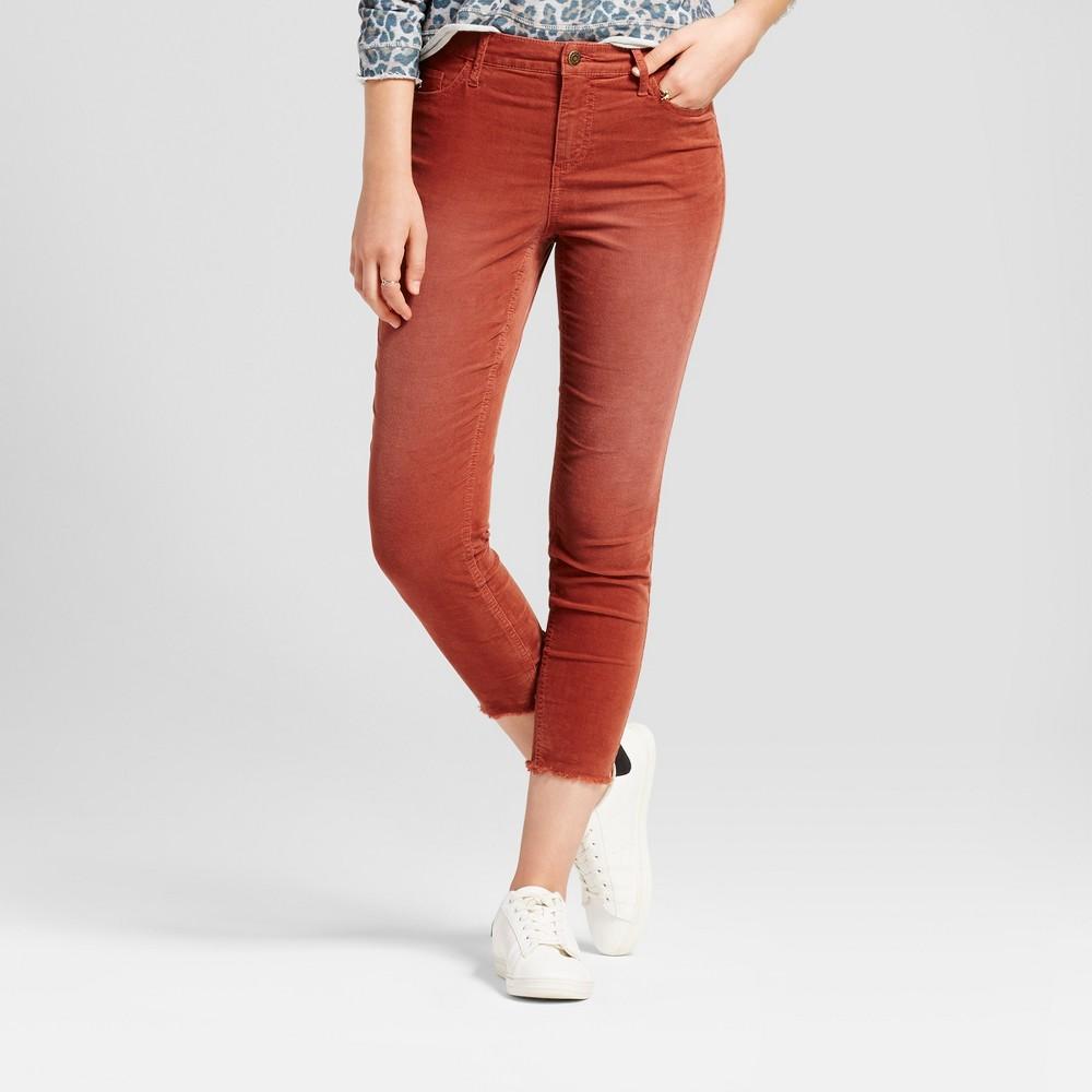 Womens Skinny Corduroy Pants - Mossimo Supply Co. Rust (Red) 4