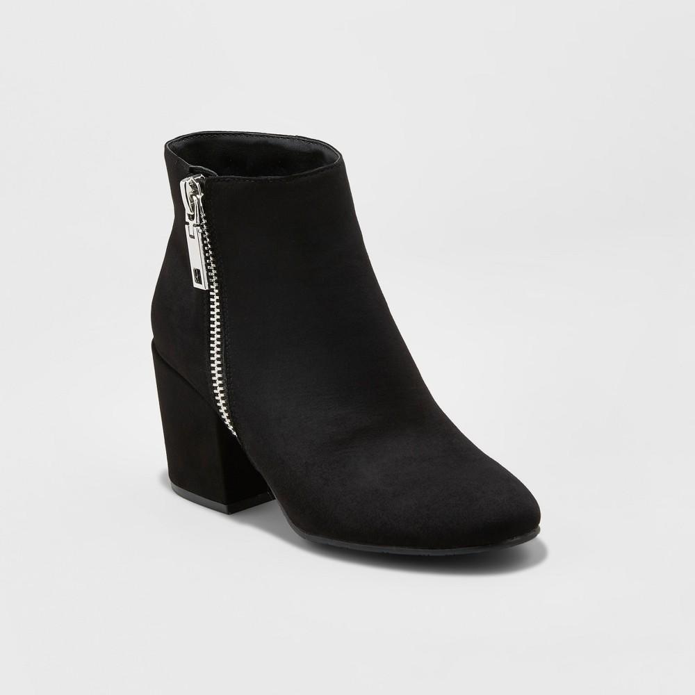 Womens dv Creola Zipper Block Booties - Black 6.5