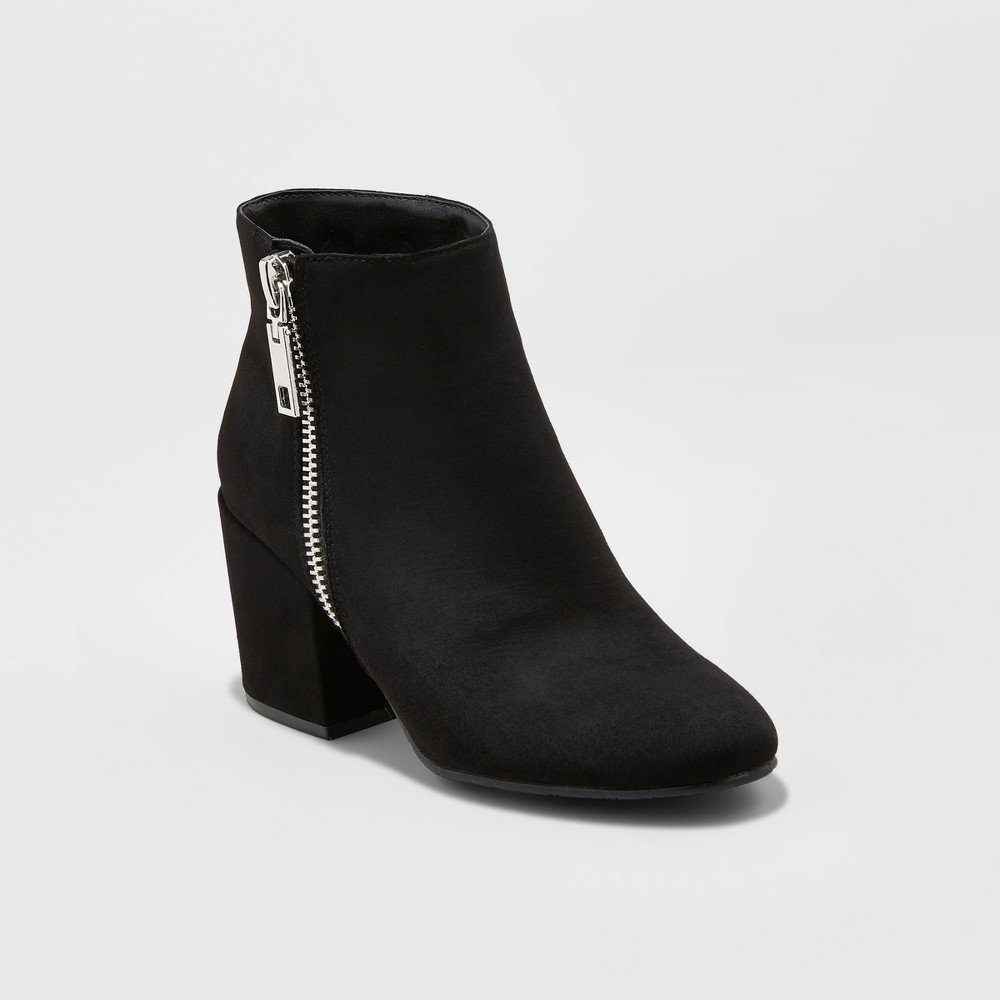 Womens dv Creola Zipper Block Booties - Black 5.5