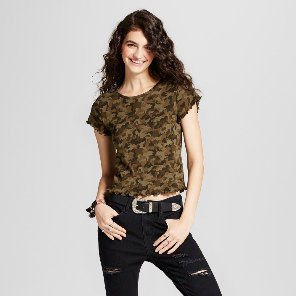 Womens Baby T-Shirt - Mossimo Supply Co. Camo L, Green