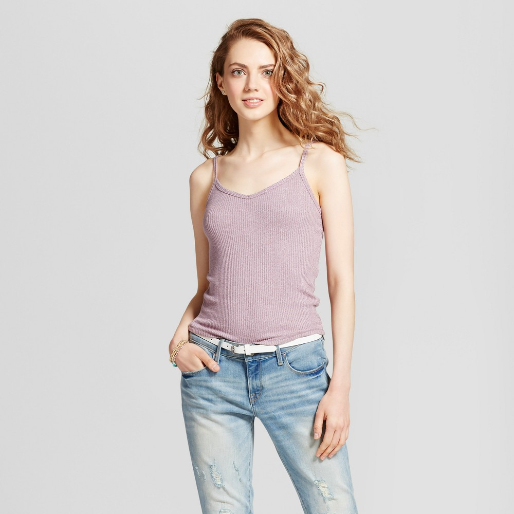 Womens Henley Baby Tank - Mossimo Supply Co. Mauve (Pink) XL