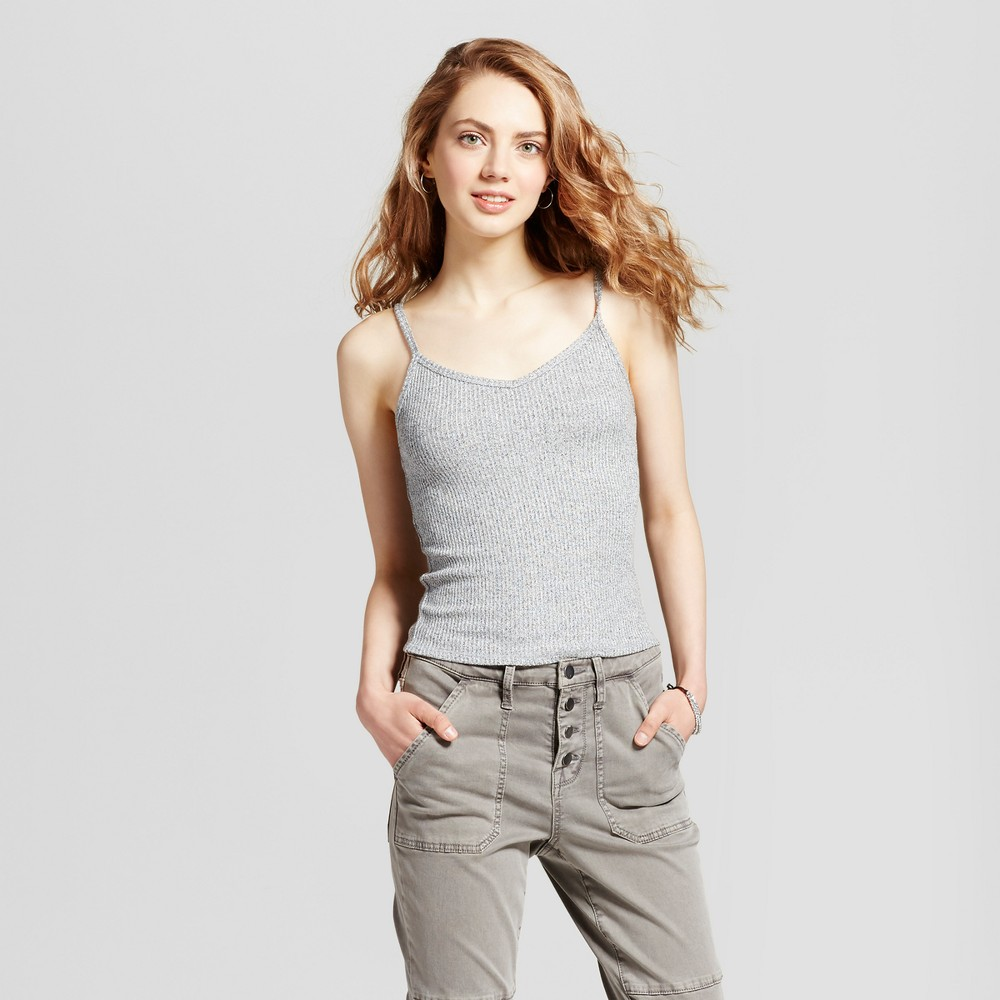 Womens Henley Baby Tank - Mossimo Supply Co. Gray L