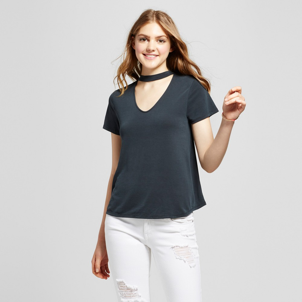 Womens Choker T-Shirt - Mossimo Supply Co. Black M