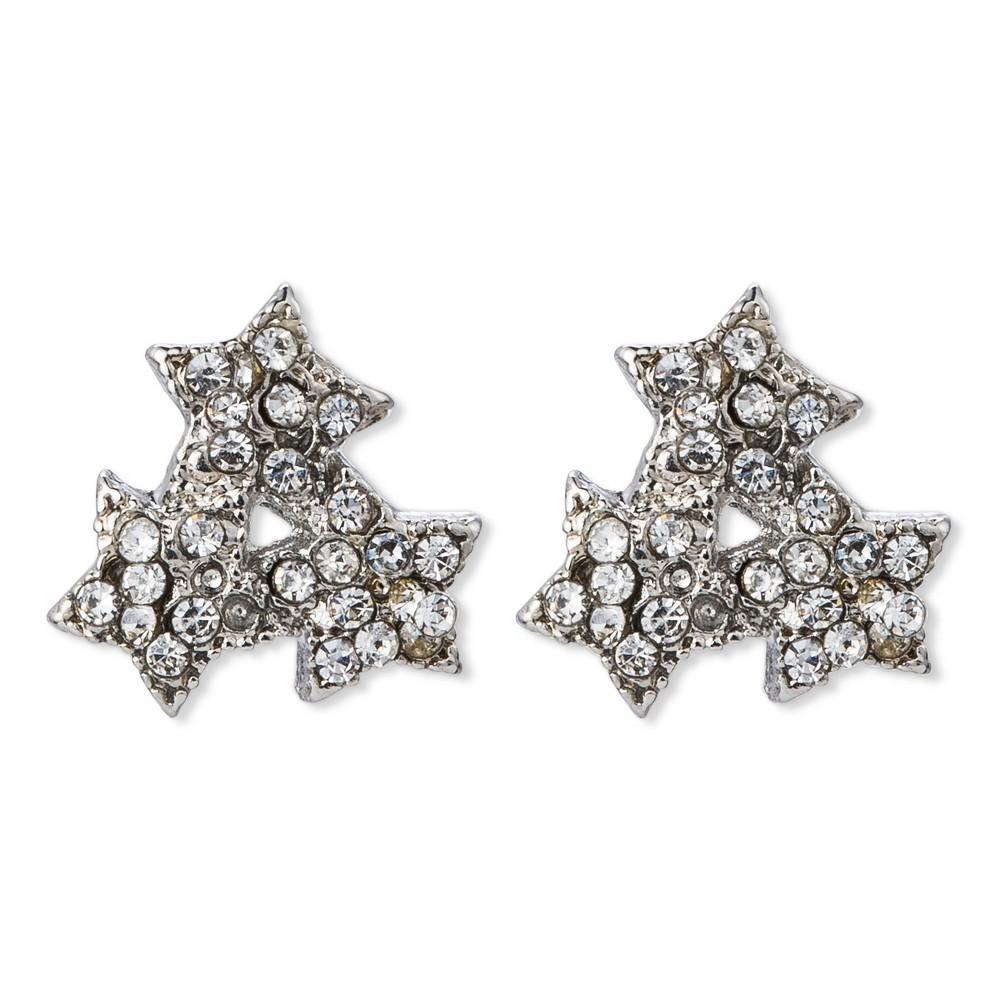 Get Gem by Gemelli Star Cluster Stud - Silver, Womens, Light Silver