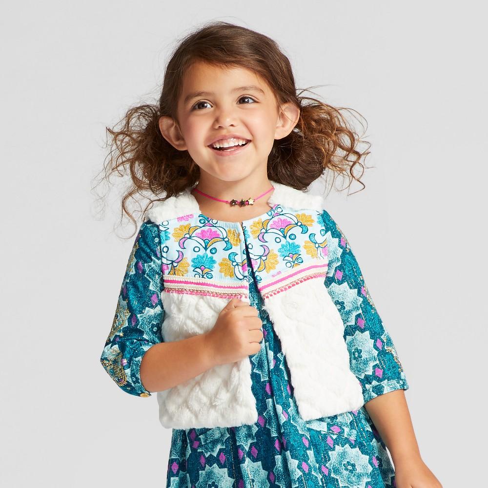 Toddler Girls Vest - Genuine Kids from OshKosh Almond Cream 18M, Size: 18 M, White