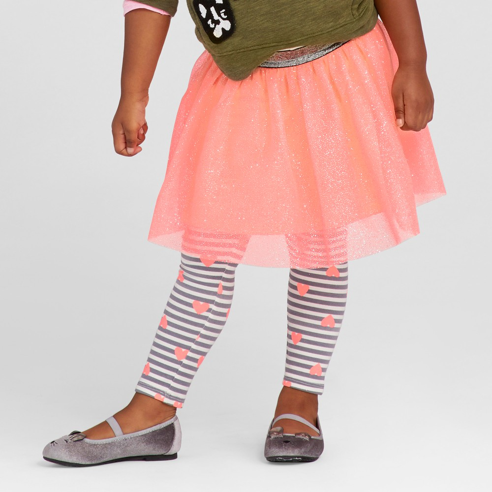 Toddler Girls Tutu Skirt - Cat & Jack Moxie Peach 3T, Orange
