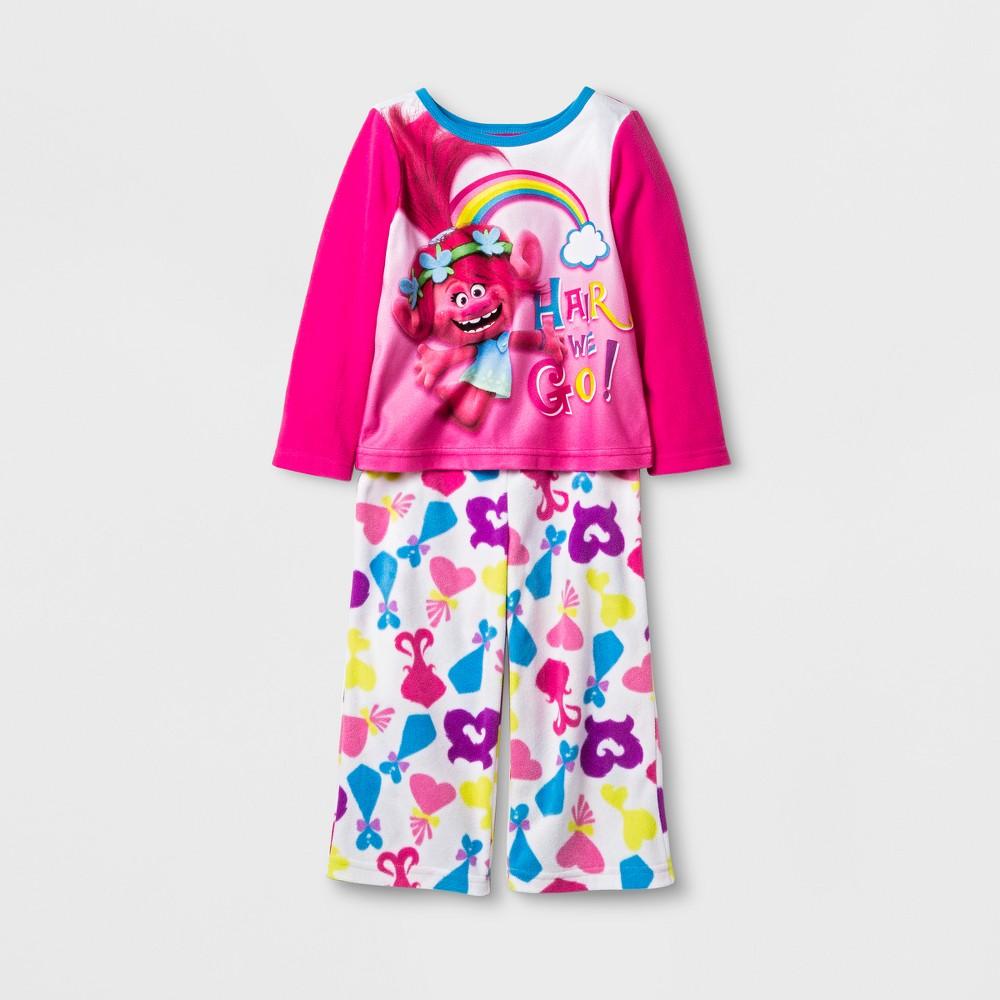 Pajama Set Trolls Pink 2T, Toddler Girls