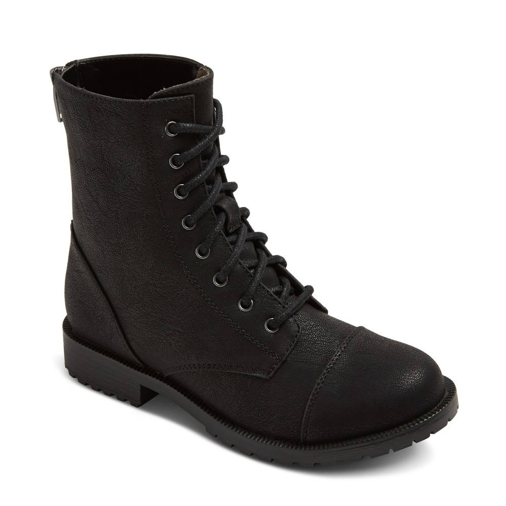 Girls Hampton Lace Up Boot Black Cat & Jack Black 13