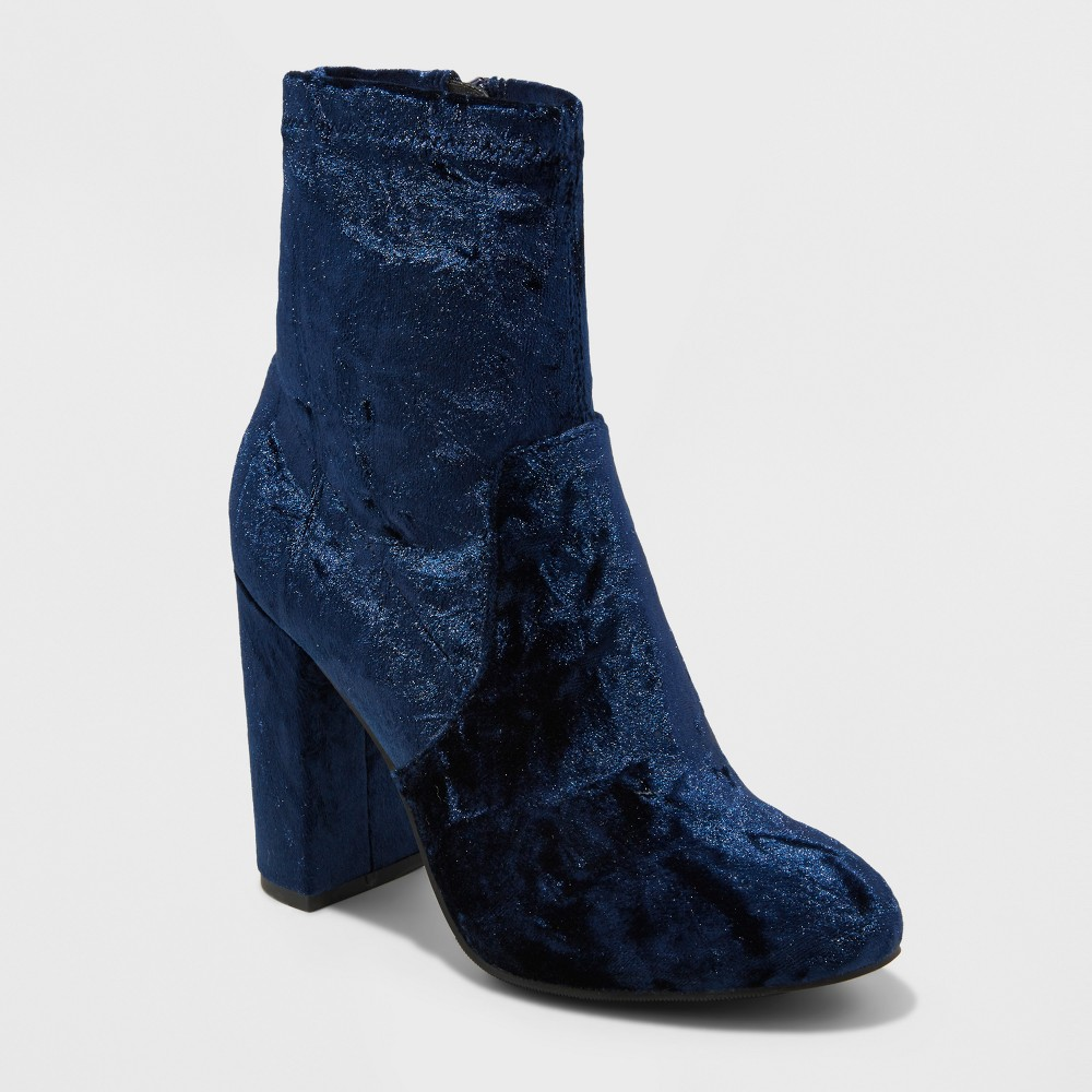 Womens Dania Velvet Booties - Mossimo Supply Co. Blue 8