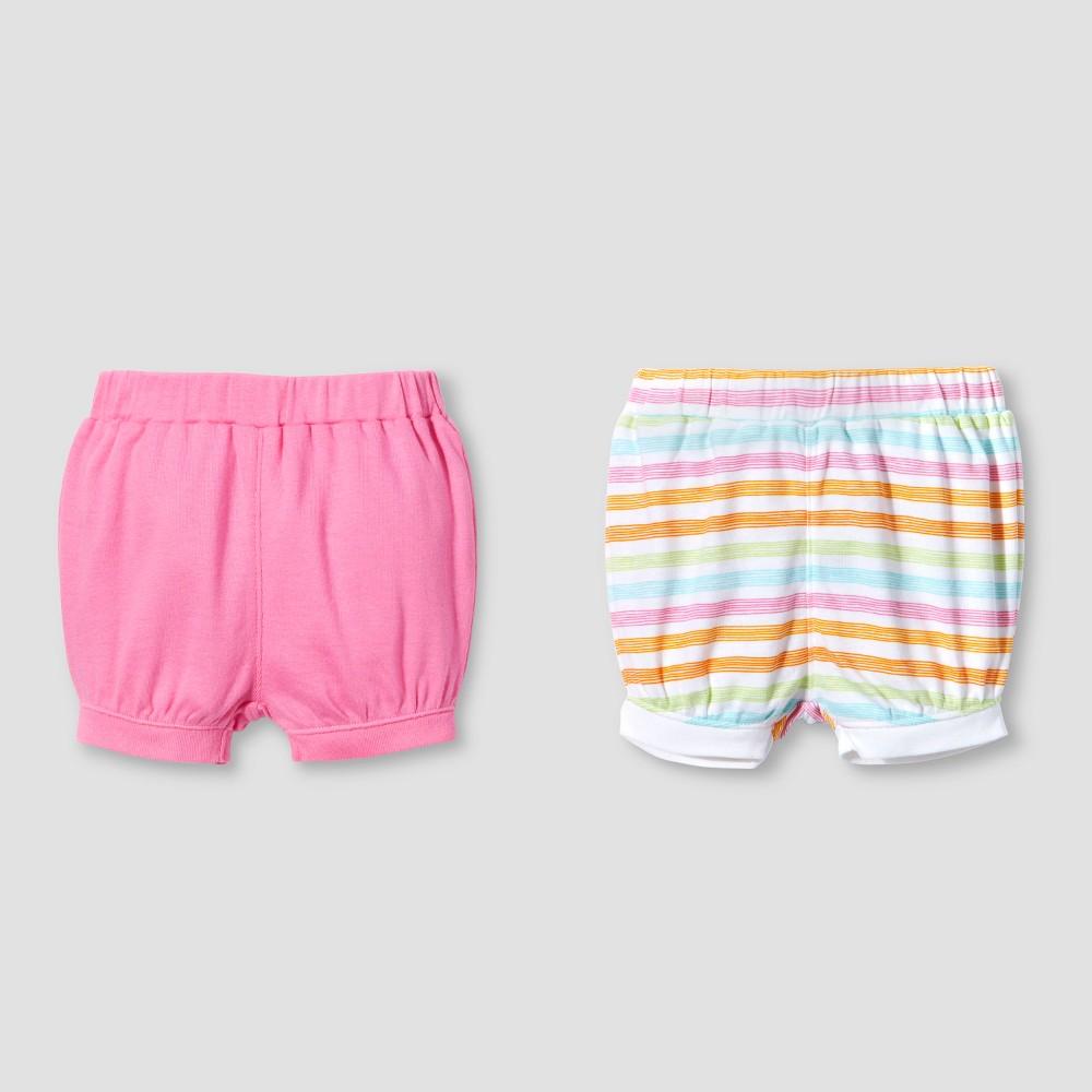 Lamaze Baby Girls Organic 2pk Shorts Set - Pink 9M