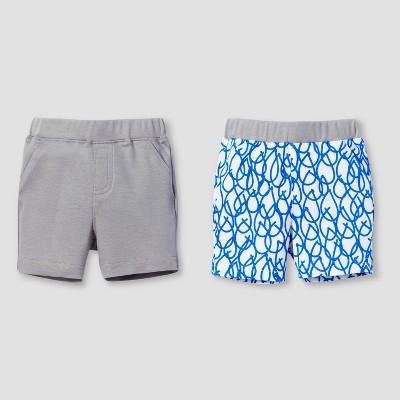 Lamaze Baby Boys' Organic 2pk Weather Patterns Shorts Set - Blue 3M