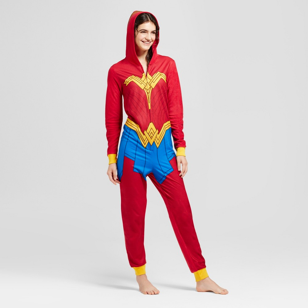 Womens Wonder Woman Union Suit - Red S