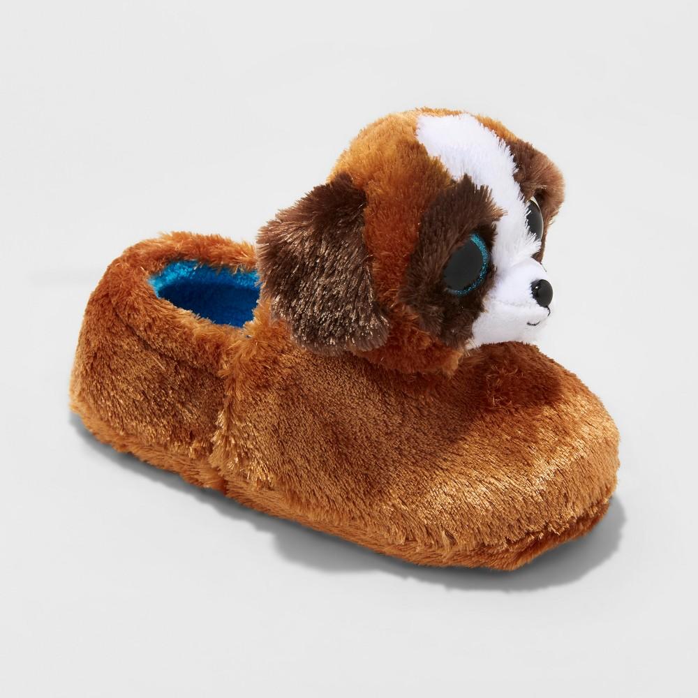 Kids TY Beanie Boos Duke Poppy Slippers - Brown S(13-1), Kids Unisex, Size: S (13-1)