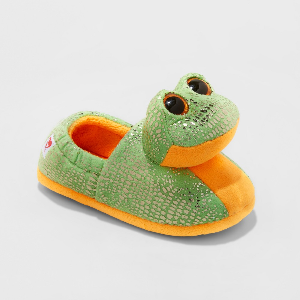Kids TY Beanie Boos Speckles Frog Slippers - Green XS(11-12), Kids Unisex, Size: XS (11-12)