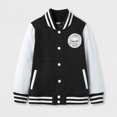 Toddler Boys' Star Wars Varsity Jacket - Black - 12 Months