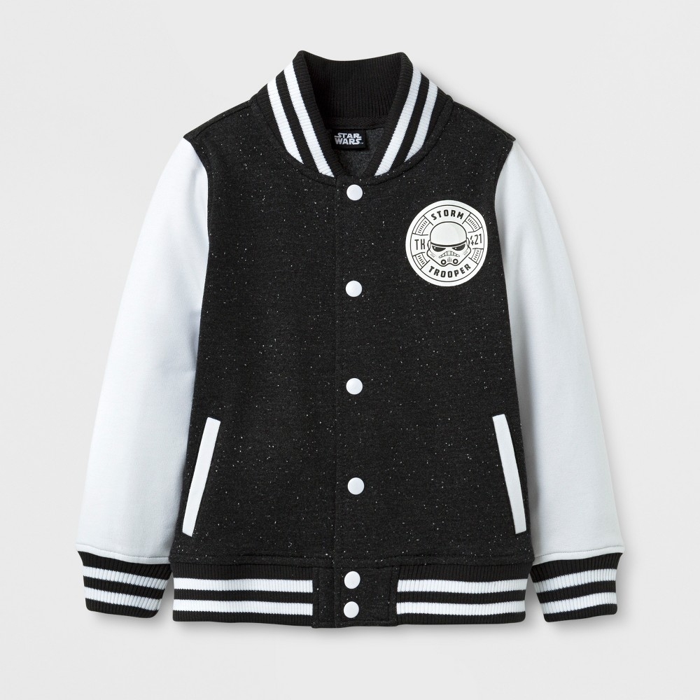 Toddler Boys Star Wars Varsity Jacket - Black - 3T
