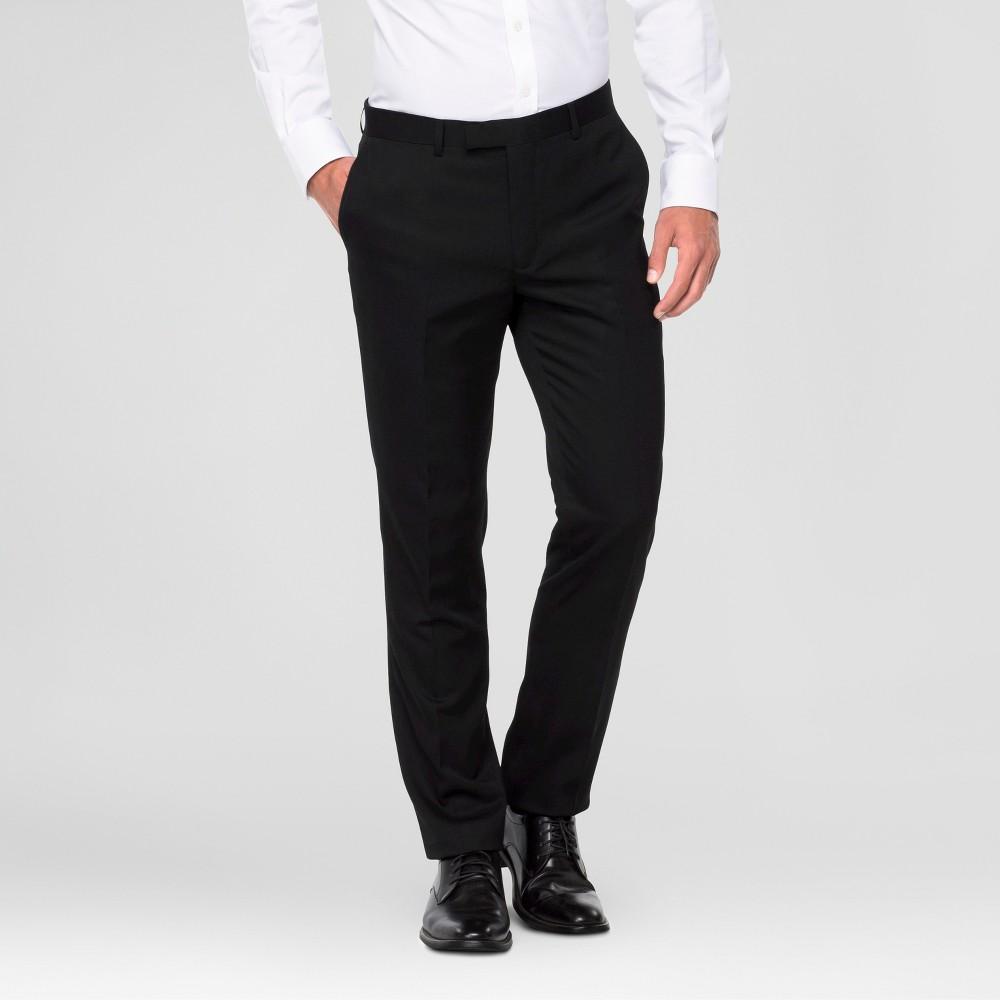 Wd·ny Black - Mens Suit Pants - Black 36x32