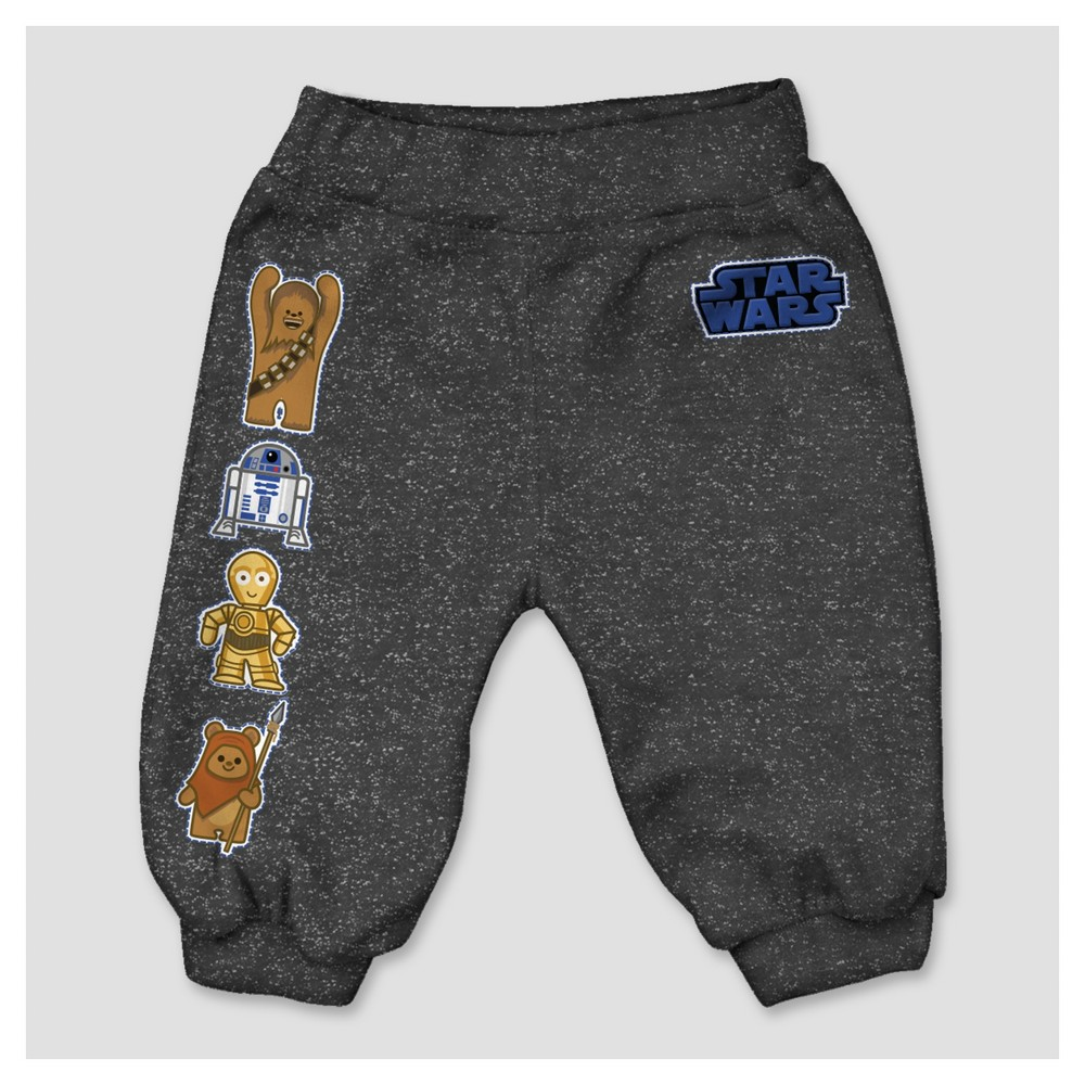 Jogger Pants Star Wars Star Wars Rich Charcoal 3T, Infant Boys, Gray