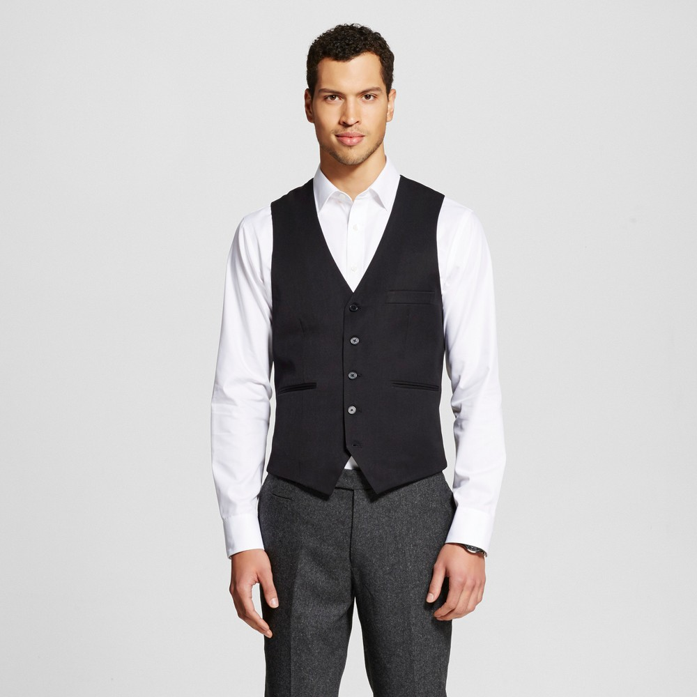 Wd·ny Black - Mens Suit Vest - Black L