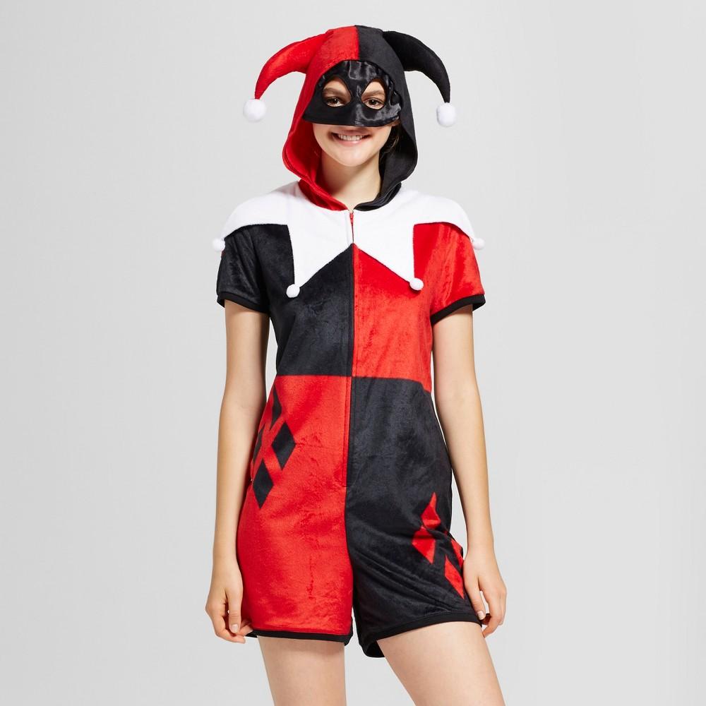 Womens Harley Quinn Romper - Red S
