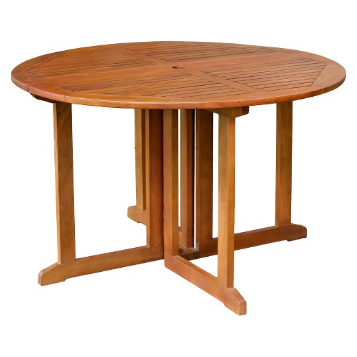 Eucalyptus Round Folding Dining Table Merry Products
