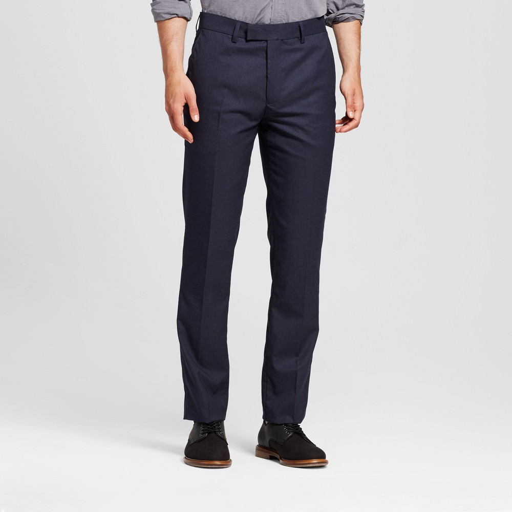 Wd·ny Black - Mens Solid Pants - Navy 29x32, Blue
