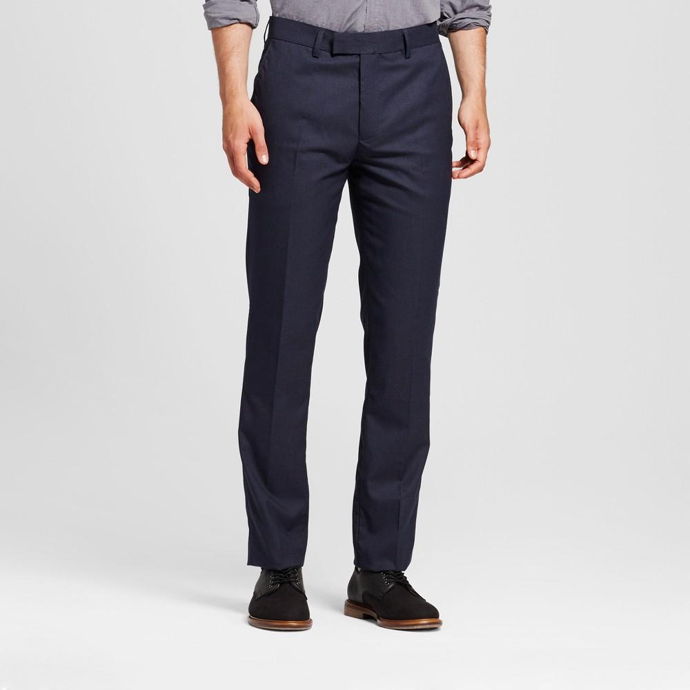 Wd·ny Black - Mens Solid Pants - Navy 32x32, Blue