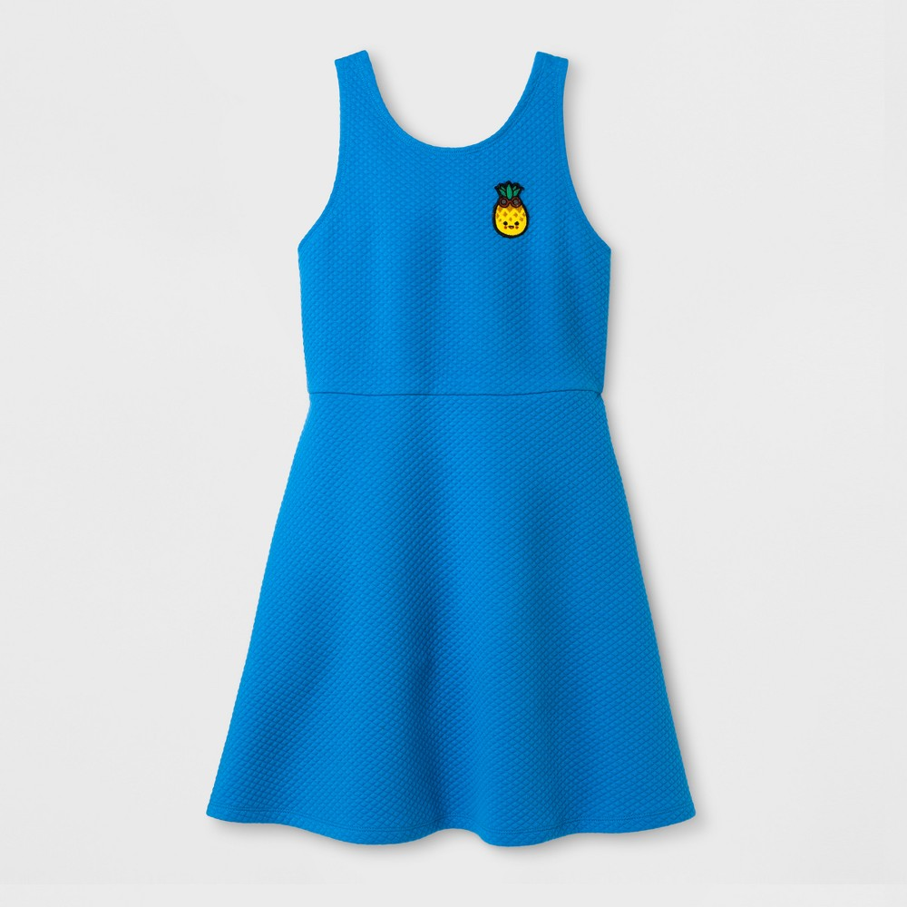 Girls Toca Boca Textured Swing Dress - April Sky Blue XL