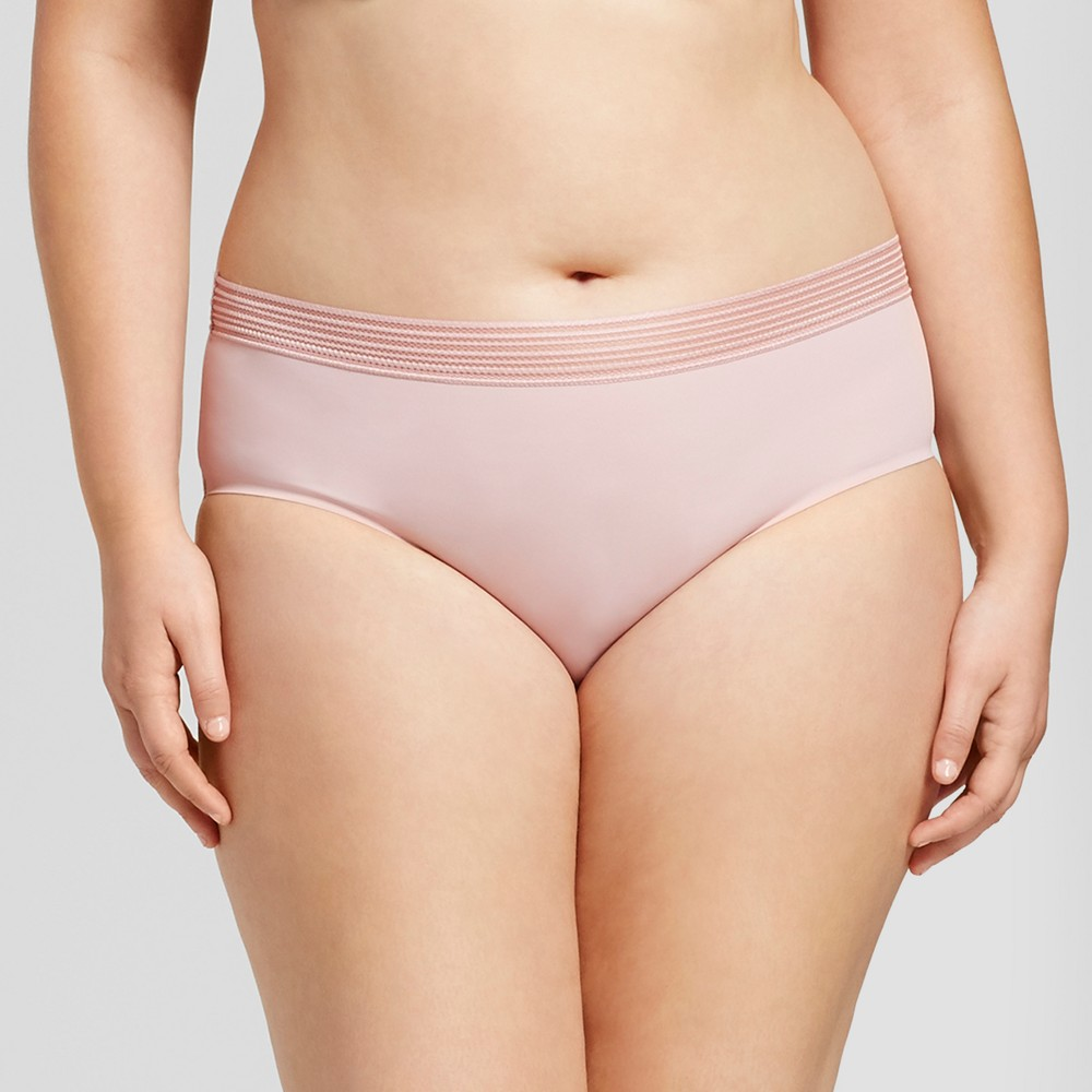 Womens Plus Size Laser Cut Hipster - Ava & Viv Dusty Rose - 2X