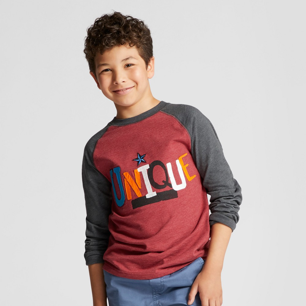 Boys Unique Graphic Long Sleeve T-Shirt - Cat & Jack Red XS