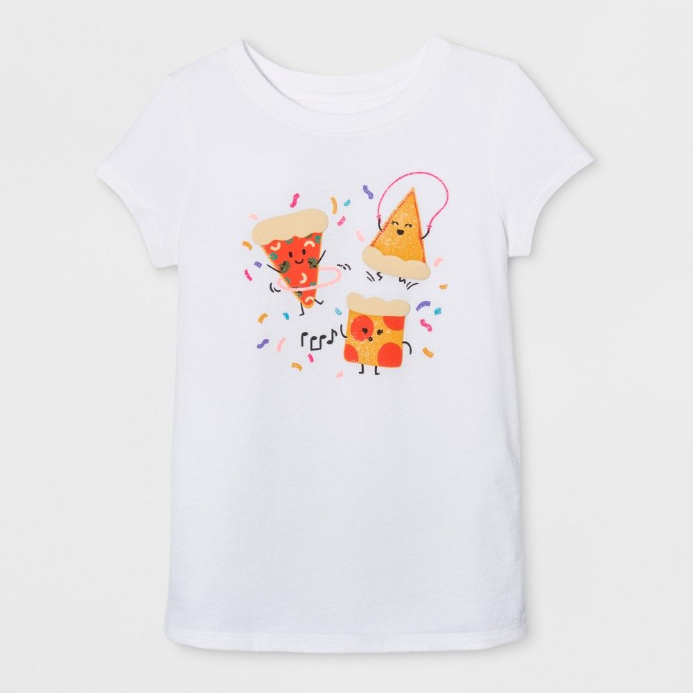 Toddler Girls Cap Sleeve Graphic T-Shirt - Cat & Jack Eco White 3T