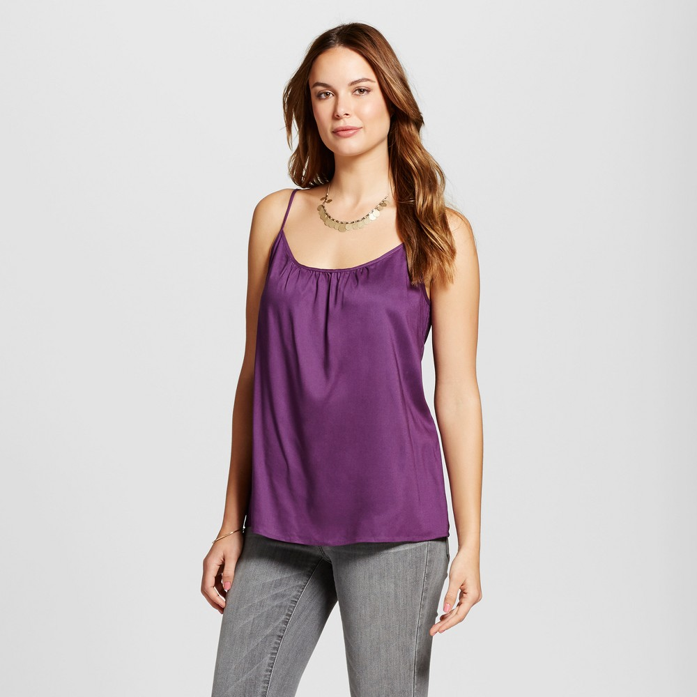 Womens Woven Cami - Merona Wood Violet M, Purple