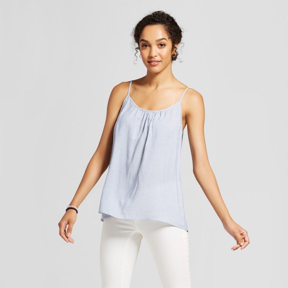 Womens Striped Woven Cami - Merona Blue Stripe XL