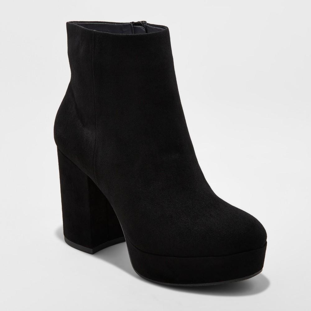 Womens Brianna Platform Booties - Mossimo Supply Co. Black 8