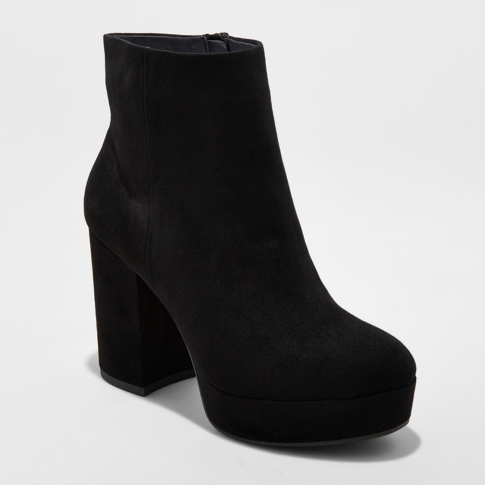 Womens Brianna Platform Booties - Mossimo Supply Co. Black 8.5